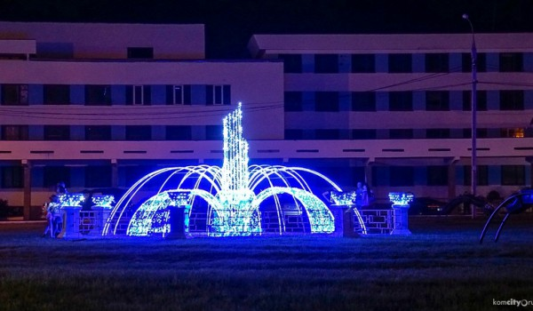 Светодиодный фонтан появился на набережной