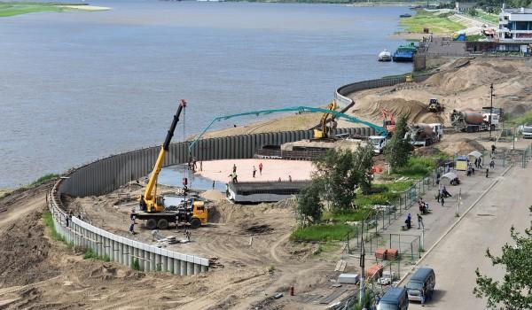 Реконструкция набережной продолжается