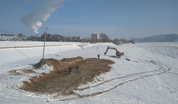 ООО «Больверк» проводит подготовительные работы по реконструкции набережной